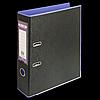 Регистратор BUROMAX, А4, 70 мм, PP, фіолетовий/чорний