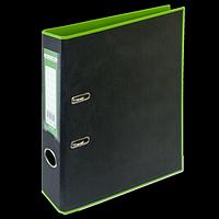 Регистратор BUROMAX, А4, 50 мм, PP, салатовий/чорний