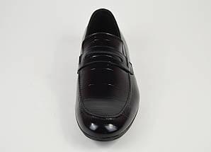 Лоферы мужские кожаные черные Tapi 6360, фото 3