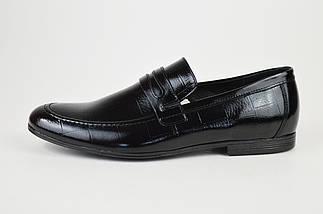 Лоферы мужские кожаные черные Tapi 6360, фото 2