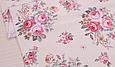 Сатин (хлопковая ткань) розы розово-бежевые (новые), фото 3