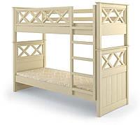 Кровать деревянная двухъярусная Мальта 90х200 Mebigrand сосна белый