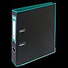 Регистратор BUROMAX, А4, 50 мм, PP, бірюзовий/чорний