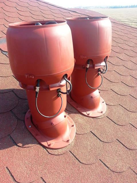 Гибридные вентиляторы для постоянной работы вентиляции (естественная работа и механическая).