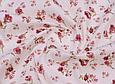 Сатин (бавовняна тканина) троянди червоні дрібні (нова), фото 2
