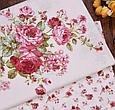 Сатин (бавовняна тканина) троянди червоні дрібні (нова), фото 4