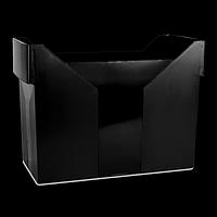 Картотека для підвісних файлів, пластик, чорна