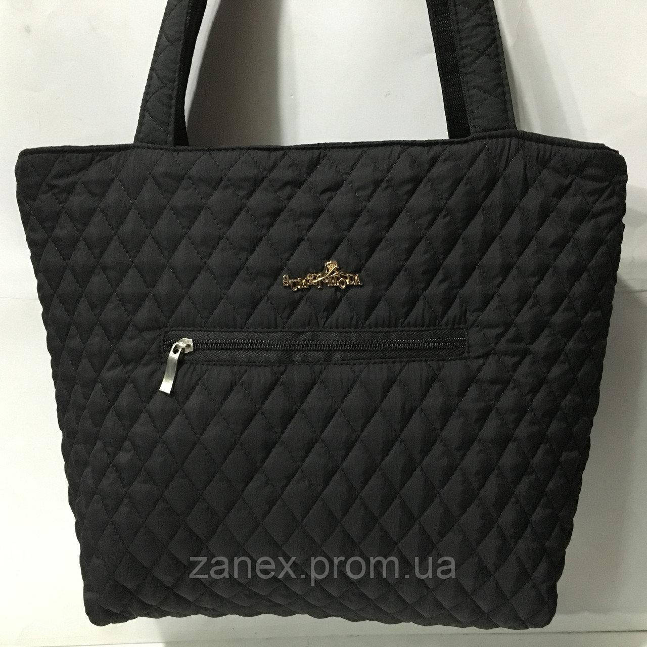 Женская сумка стеганая (черная)