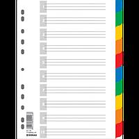 Цифровий індекс - розділювач А4, 1-10, кольоровий, з аркушом опису