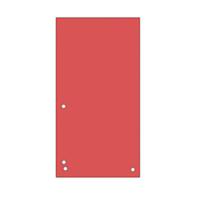 Індекс-розділювач 105х230 мм, 100шт., картон, червоний