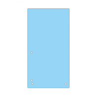 Індекс-розділювач 105х230 мм, 100шт., картон, синій
