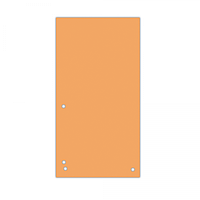 Індекс-розділювач 105х230 мм, 100шт., картон, помаранчевий