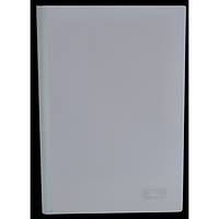 Папка швидкозшивач з притискною планкою, 10 мм, білий