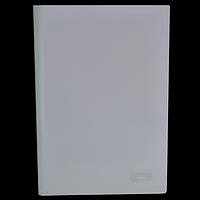 Папка швидкозшивач з притискною планкою, 15 мм, білий
