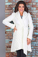 Женское длинное пальто на синтепоне, размер 42-48