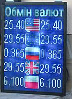 Табло Обмен Валют светодиодный RGB 320х480 Wi-Fi управление ІР20