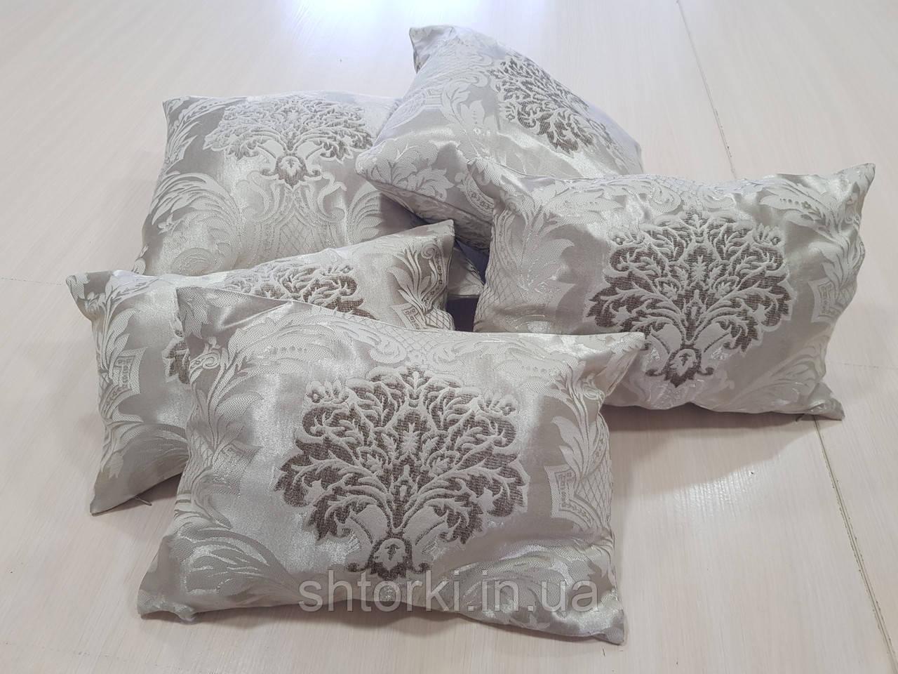 Комплект подушек коронки бежевые, 5шт