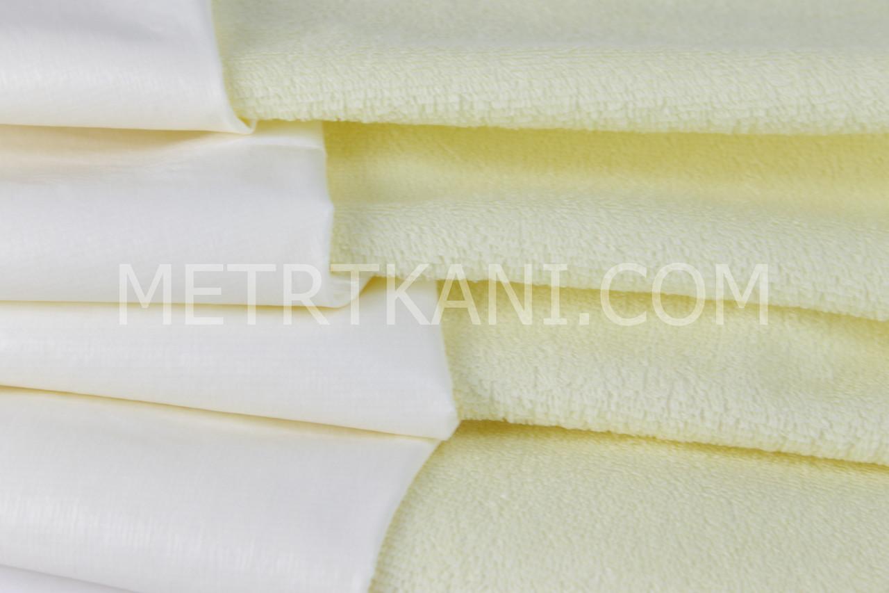 Непромокаемая ткань для наматрасника ,махровая ткань, кремового цвета 180 г/м/2 № МНП-7