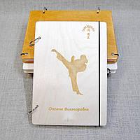Скетчбук В6 индив. Блокнот с деревянной обложкой с индивидуальной гравировкой, фото 1