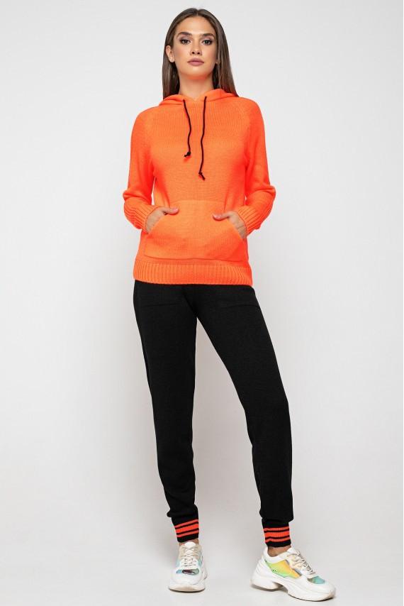 """Вязаный костюм""""Карина""""- оранжевый"""