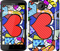 """Чехол на HTC One X Любовь v2 """"2839c-42"""""""
