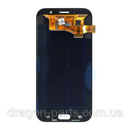 Дисплей Samsung A720 Galaxy A7 с сенсором Розовый Pink оригинал , GH97-19723D, фото 2