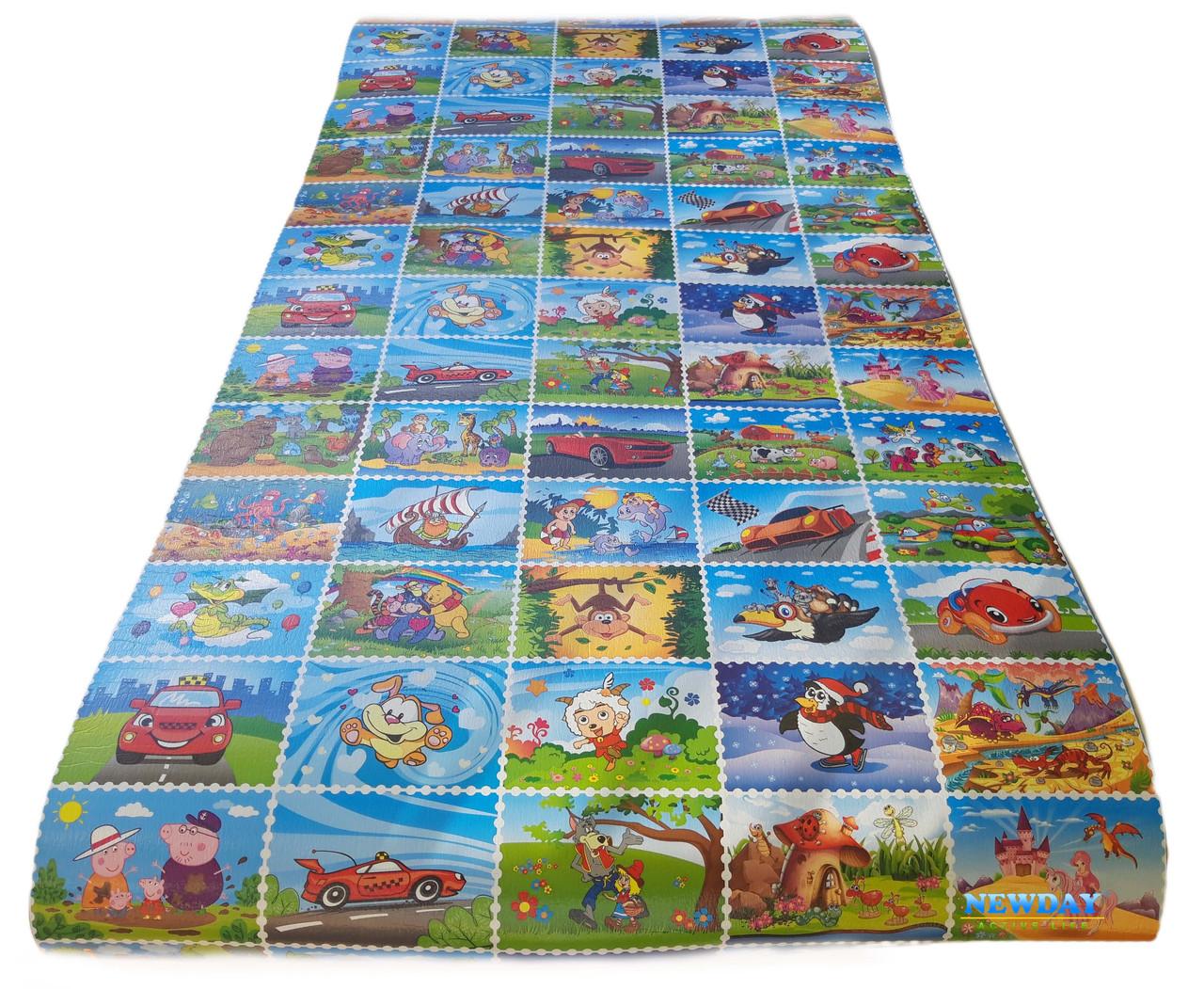 Детский коврик 1900×960×8мм, «Кадры Мультфильмов», теплоизоляционный, развивающий, игровой коврик.