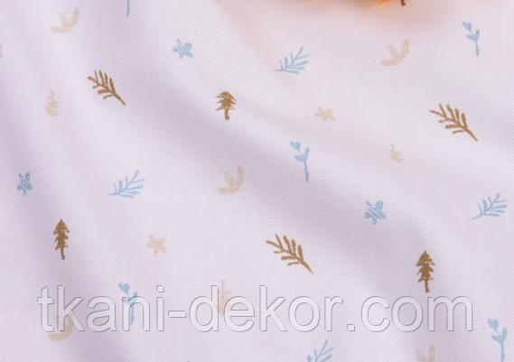 Сатин (бавовняна тканина) гілочки прованс