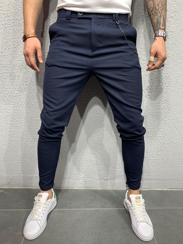 Мужские брюки черные 2Y PREMIUM 1044 navy
