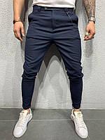Мужские брюки черные 2Y PREMIUM 1044 navy, фото 1