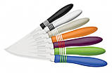Наборы ножей TRAMONTINA COR & COR нож д/овощей 76 мм - 2шт чёрный (23461/203), фото 3