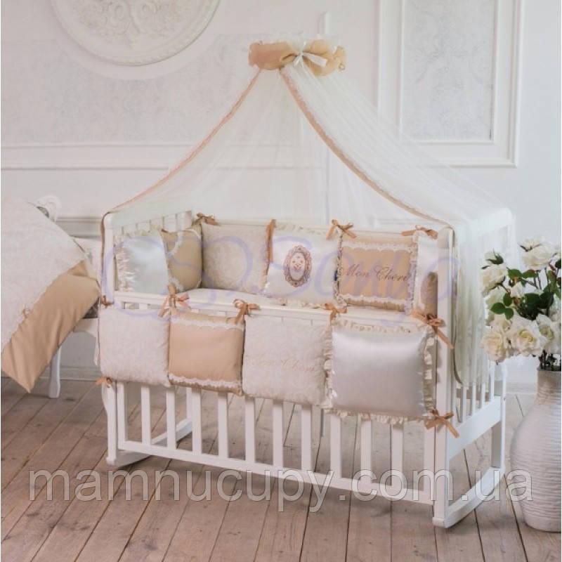 Комплект постельного белья в стандартную кроватку Mon cheri кофейный ТМ «Маленькая Соня»