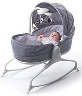 Ліжечко-гойдалка 3 в 1 Tiny Love Мамина любов з капюшоном, колір сірий