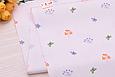 Сатин (хлопковая ткань) бабочки и листики на пудре(компаньон к рыжим лисичкам), фото 2
