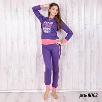 Комплект-двойка женский спорт: штаны и лонгслив с капюшоном Primo tocco (Турция) prtk8062
