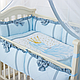 Комплект постельного белья в стандартную кроватку Flamingo голубой ТМ «Маленькая Соня», фото 2