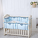 Комплект постельного белья в стандартную кроватку Flamingo голубой ТМ «Маленькая Соня», фото 5