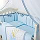 Комплект постельного белья в стандартную кроватку Flamingo голубой ТМ «Маленькая Соня», фото 6