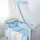 Комплект постельного белья в стандартную кроватку Flamingo голубой ТМ «Маленькая Соня», фото 7
