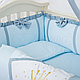 Комплект постельного белья в стандартную кроватку Flamingo голубой ТМ «Маленькая Соня», фото 8