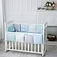 Комплект постельного белья в стандартную кроватку Зайчики голубой ТМ «Маленькая Соня», фото 3