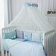 Комплект постельного белья в стандартную кроватку Зайчики голубой ТМ «Маленькая Соня», фото 5