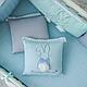 Комплект постельного белья в стандартную кроватку Зайчики голубой ТМ «Маленькая Соня», фото 8