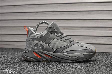 """Зимние кроссовки на меху Adidas Yeezy 700 Interia """"Серые"""", фото 2"""