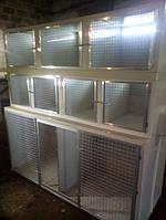 Ветеринарная клетка для собак, котов трехъярусная со светодиодным освещением и теплым полом