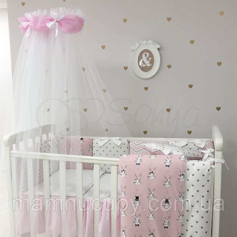 Комплект постельного белья в стандартную кроватку Shine Алиса розовый ТМ «Маленькая Соня»