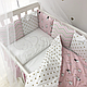 Комплект постельного белья в стандартную кроватку Shine Алиса розовый ТМ «Маленькая Соня», фото 2