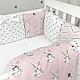 Комплект постельного белья в стандартную кроватку Shine Алиса розовый ТМ «Маленькая Соня», фото 5