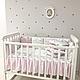 Комплект постельного белья в стандартную кроватку Shine Алиса розовый ТМ «Маленькая Соня», фото 8