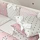 Комплект постельного белья в стандартную кроватку Shine Алиса розовый ТМ «Маленькая Соня», фото 9